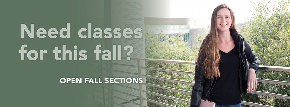 Need fall classes? View open fall sections