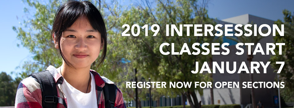 Intersession Classes Begin January 7. Register now