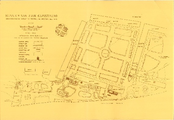MAP OF MISSION SAN JUAN CAPISTRANO