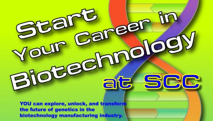 Biotech Word Graphic - Start Your Career in Biotechnology at SCC