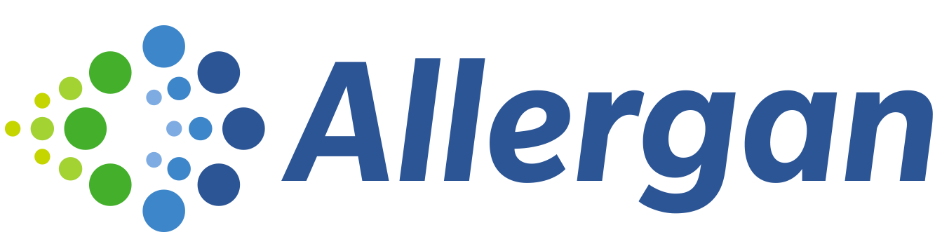 Allergan logo and link
