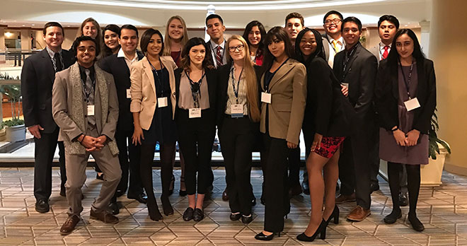 SCC students who attended NMUN