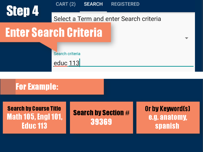 Step 4: Enter Search Criteria