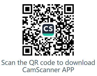 QR Code to Download CamScanner APP