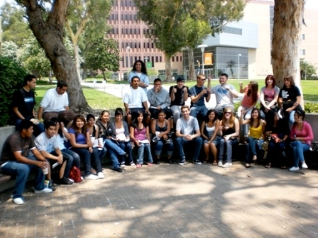 SCC's CTE Teach students participating in a tour of Cal Poly Pomona as part of the CTE Summer Institute--a summer course designed to introduce new college students to Career Technical Education.
